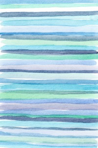 random blue watercolor lines
