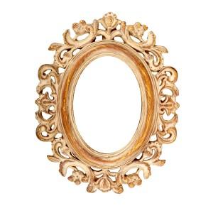 Vintage ornate oval picture frame