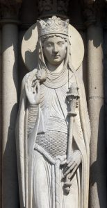 Queen of Sheba, Notre Dame Cathedral, Paris, Portal of St. Anne